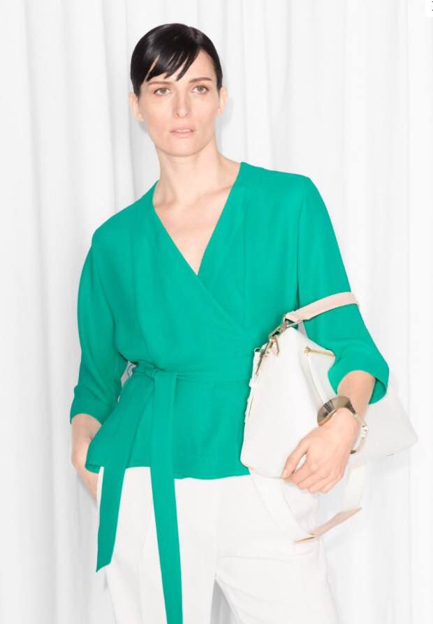 & Other Stories Wrap Blouse €65