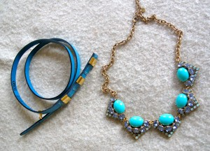 Belt from ASOS and necklace from Stella & Dot