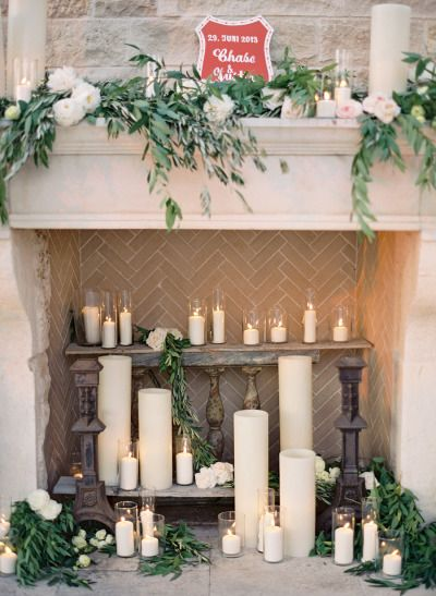 I'm such a candle person, I knew they would feature strongly.  I love different height pillar candles arranged together.