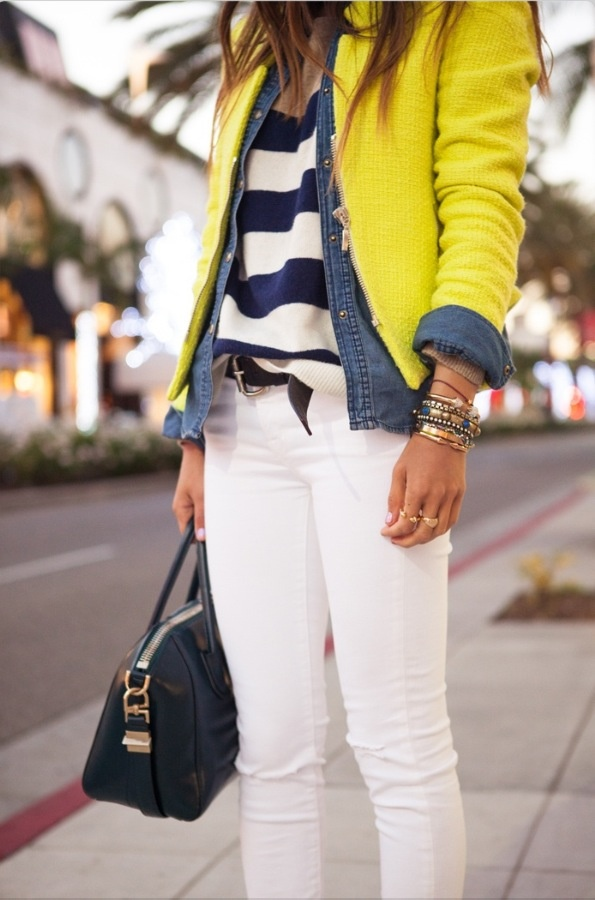 Layered styling with a blazer