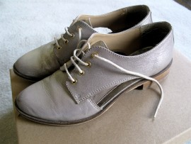 Silver leather brogues from Clarks