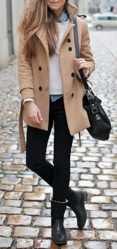 A smart casual layered look