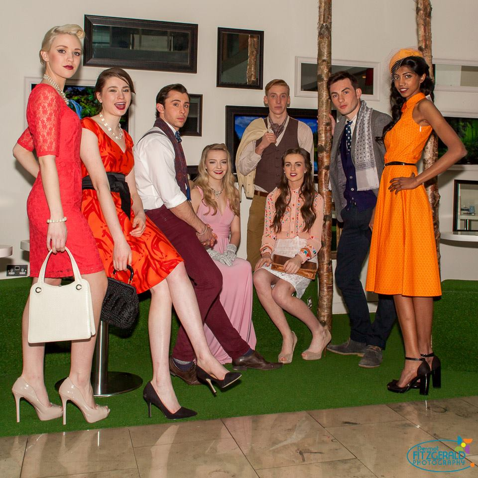 A group shot before the fashion show, all models from Pulse Models and Event Management.