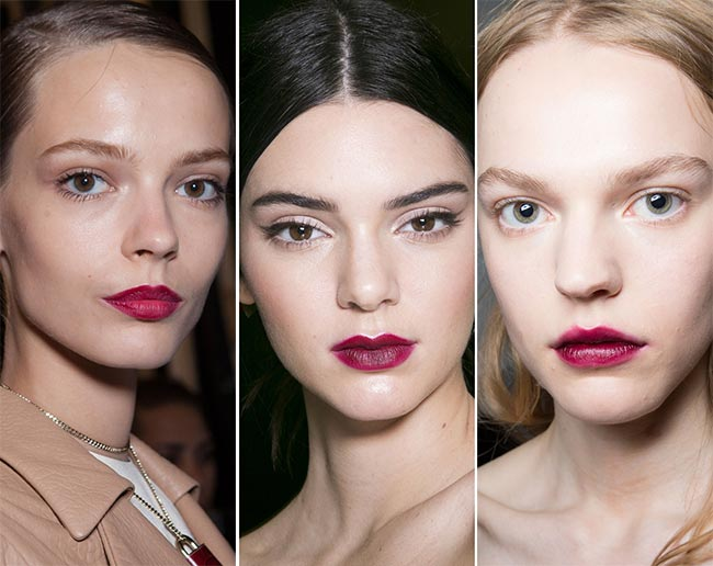 Summer berry lips.  Usually associated with winter, bold berry lips are one of the lip trends for spring/summer and why not!  Just keep the rest of your makeup simple or for drama add a slick of liner a la Dolce & Gabanna!